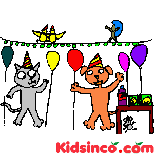 Cat is having a party