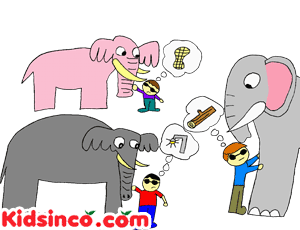 Blindmen and the Elephant, Blind Men, Elephant