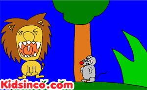 The lion and the mouse clip art, lion clip art, mouse clip art