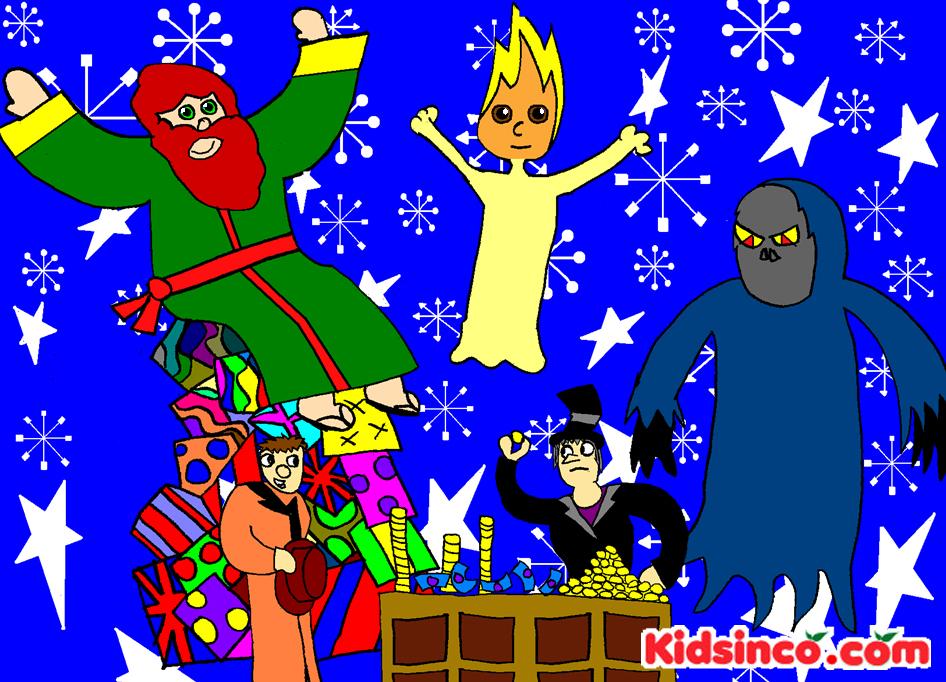 Scrooge, Cuento de Navidad, Espiritu de la Navidad