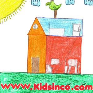 Half Chicken free clip art, chicken clip art, house clip art, farm clip art, medio pollito