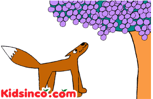 Fox and Grapes clip art