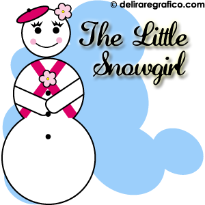 The Little Snowgirl, Free Clip Art Snowgirl, La Pequena Nina de Nieve