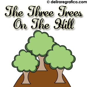 Three trees on a hill