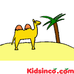 Camel in the Desert Free Clip Art