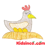 The Hen and the Golden Eggs Free Clip Art