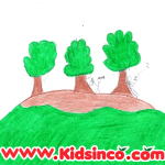 Three Trees on the Hill Free Clip Art