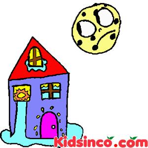 Moon, Sun, Water free clip art, House free clip art, Kidsinco free clip art