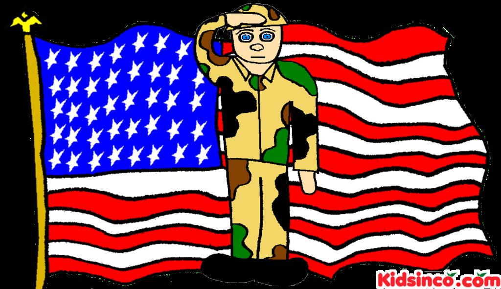 Irak soldier free clip art, soldier, American Flag, USA flag