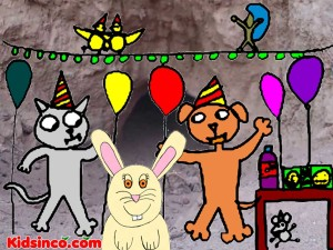 Hare is having a birthday party