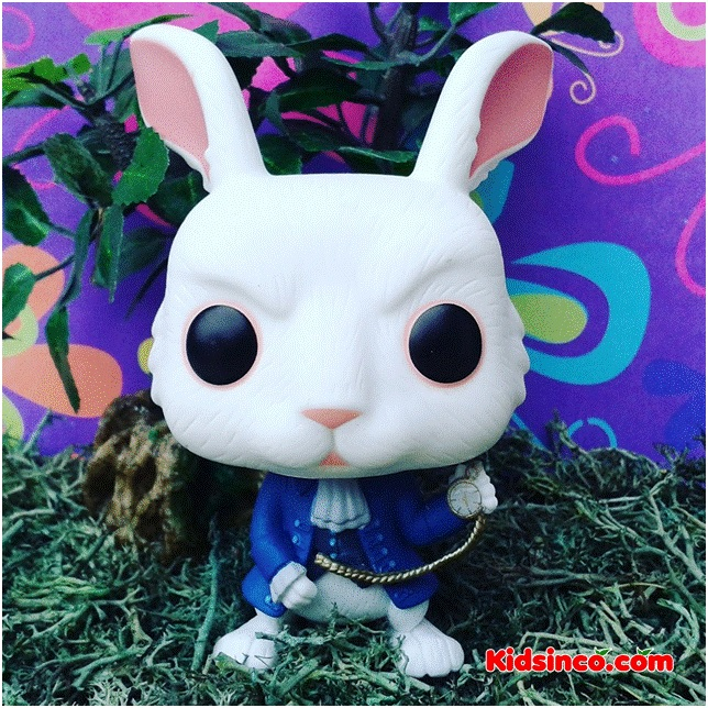 rabbit_flowers_forest_white rabbit_alice in wonderland_conejo_funko_funko pop